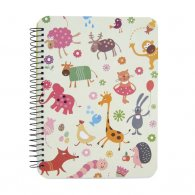 Animal O-Wire Binding Notebook
