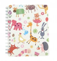 Animal O-Wire Binding Notebook with Divider