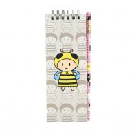 Bees O-Wire Binding Notebook with Pencil
