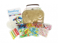 beading suitcase-brown