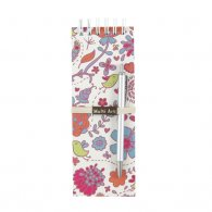 Colorful Birds Long O-Wire Binding Notebook with Pen
