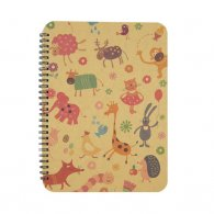 Animal O-Wire Binding Notebook (Kraft cover)