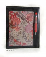 Animal Fabric Cover Diary Set with Pen